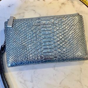 Michael Kors Metallic Snake Phone Wallet Wristlet